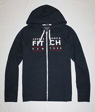 Abercrombie & Fitch Men Full Zip Applique Sweater Hood Size S , XL new with tags