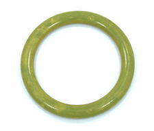 Rare Vintage Old Marbled Yellow Green BAKELITE Plastic Bangle Bracelet