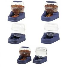 Pet Feeder Waterer Automatic Dry Food Drink Dispenser Dog Cat Bowl Small Petite