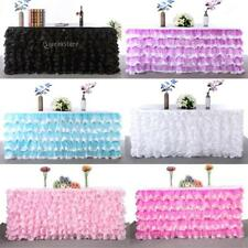 6 Colors Tulle TUTU Table Skirt Tableware Baby Shower Wedding Party Xmas Decor