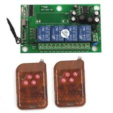 85-240V 4CH Relay Wireless RF Control Switch Transmitter+Receiver Modules Kits