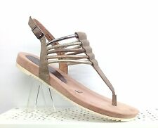 TAMARIS PEPPER NUDE GLADIATOR FLAT STRAPPY SANDALS SOFT INSOLES