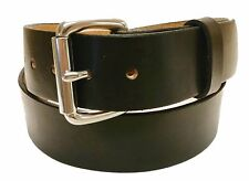 Leather Belt Vermont Hand Made 1.5 inches Solid Stainless Steel Buckle