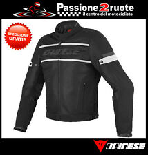Jacket Dainese Air Frame Tex black white perforated spring summer
