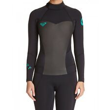 NEW Roxy Womens Syncro 3/2mm Back Zip Wetsuits in Black