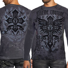 Xtreme Couture Status Unknown Celtic Cross Wings UFC MMA Mens Thermal Grey M-2XL