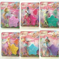 WINX CLUB MINI DOLLS FIGURES WITH STAR COLLECTIBLE BLOOM TECNA MUSE FLORA STELLA
