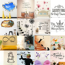 29Style Kids Wall Stickers DIY Art Vinyl Decals Quote Flower Mural Car Decor HOT