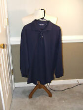 XL Polo Golf Ralph Lauren LS Golf Polo Shirt 100% Mercerized Pima NAVY BLUE NWOT