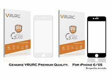 Genuine iPhone 6/6S Screen Protector Tempered Glass, VRURC 3D Curved Edge Glass