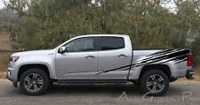 RIPPED Upper Rear Truck Bed Vinyl Graphics Kit Decals Stripes for Chevy Colorado