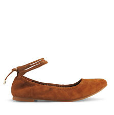 Wittner Ladies Shoes Tan Suede Flats