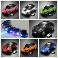 3D Wireless Optical 2.4G Stylish Car Shaped Mouse Mice 1600DPI USB For PC laptop