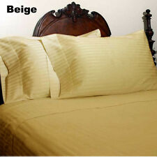 OFFER 1000-1200TC HOTEL BEDDING ITEM EGYPTIAN COTTON ALL-SIZE BEIGE STRIPED