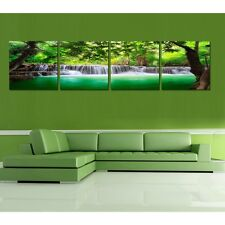 HD Print on Canvas Painting Home Decoration Wall Art Forest Falls scenery 4PCS