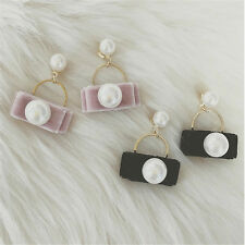 Earring Pearl Cute Pearl 1Pair Earrings For Women Stud Earrings Design Velvet