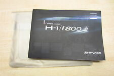 HYUNDAI H-1 i800 (iLOAD) 2008-2012 Owners Manual Guide Book with Wallet Pack