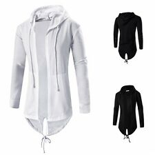Men Hoodie Hooded Jacket Coat Long Sleeve Sweatshirt Cardigan Sweater Tops W05