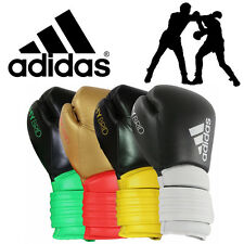 adidas Hybrid 300 SE Leather Boxing Gloves Training Sparring Bout Fight Gloves