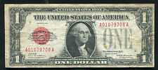 FR. 1500 1928 $1 ONE DOLLAR RED SEAL LEGAL TENDER UNITED STATES NOTE VF (B)