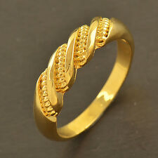 Classic 9K Gold Filled EMBOSSED Mens Unisex Women Wedding Ring,size 7,8,9,10