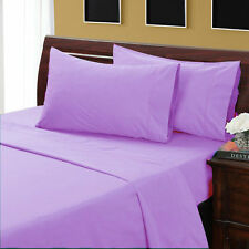 LILAC SOLID UK-EMPEROR SIZE HOTEL BEDDING ITEM 1000 TC EGYPTIAN COTTON