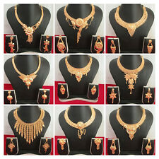 Indian Traditional Gold Plated Bridal Ethnic Necklace Earring Fashion Jewelry