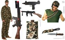 Military Mission Army Costume Sets Props Camouflage Belt Ammo Bullets Rambo