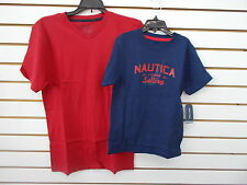 Boys Nautica $19.50 - $22.50 Red or Navy T-Shirt Size 4 - 18/20