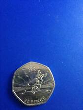 """2011 - LONDON 2012 OLYMPIC GAMES """"WRESTLING"""" 50p COIN"""