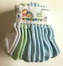 6 Pairs Socks 0-18 Months Infant Baby Boy Blue White Yellow/Green NEW