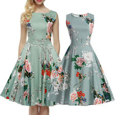 Rockabilly Vintage Swing PINUP Party Evening Dress 50s Retro Housewife Floral