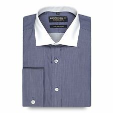 Hammond & Co. By Patrick Grant Designer Navy Fine Striped Tailored Fit Shirt