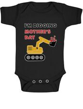 I'm Digging Mother's Day Gift Tractor Loving Boys Cute Baby Bodysuit Bulldozer
