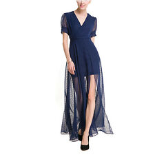 Women Long Chiffon Evening Formal Party Ball Gown Prom Bridesmaid Casual  Dress