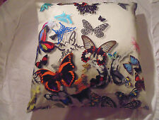 Designers Guild 100% Cotton Fabric Butterfly Parade Opali Cushion Cover / Pillow