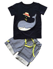 Summer Kids Baby Boys Clothes Short sleeve T-shirt Tops + Pants Outfits Sets New
