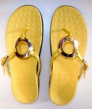 Orthaheel Yolanda Thong Sandals w/ Arch Support Yellow size 9*