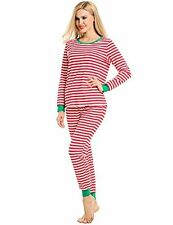 Avidlove Womens Fitted Stripe Winter Pajama Set Cotton Pjs Long Sleeve Lounge