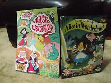 VTG '74 oversize A BIG Golden Book Walt Disney Alice in Wonderland & GIANT Color