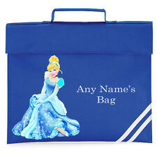 PERSONALISED CINDERELLA GIRLS SCHOOL READING LIBRARY HOMEWORK BOOK BAG PRIMARY