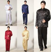 2017  Handsome Chinese men's style dragon kung fu suit pajamas SZ: S M L XL XXL