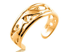 9ct Solid Yellow GOLD Dolphin Toe Ring