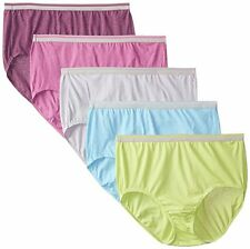 Fit For Me By Fruit of the Loom Women's Plus SZ Heather Briefs - (5-Pack)