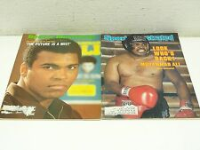 Sports Illustrated April 1971 & July 1980 Cassius Clay Muhammad Ali Covers