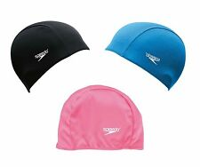 Speedo POLYESTER JUNIOR SWIM CAP One Size Fits All*Aust Brand-Blue, Grey Or Pink