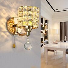 Luxury Crystal LED Wall Light Aisle/Bedside Lamp Lighting Fixture Fitting Sconce