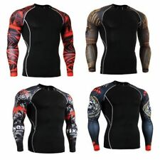 9 styles Mens Gym Compression Thermal Tight Tops Under Base Layer Sport T-shirts