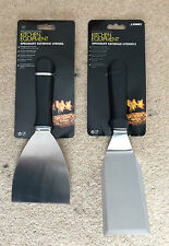 HAMBURGER TURNER AND GRIDDLE SCRAPER - STAINLESS STEEL USED BY PROFESSIONALS