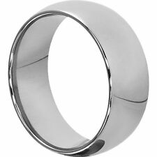 8 mm wide Tungsten Carbide Classic Dome Wedding Band Ring